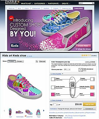 Customized shoes designed by YOU
